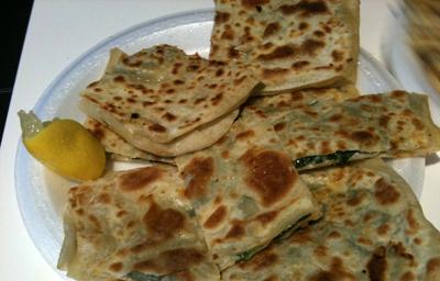 Spinach Gozleme ($8) - Gozleme Turkish House